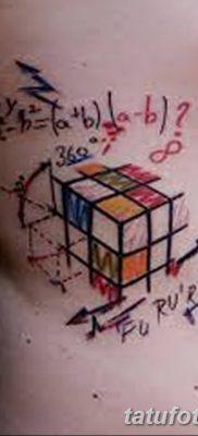 фото тату Кубик Рубика от 24.02.2018 №090 – tattoo Rubik's Cube – tatufoto.com