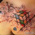 фото тату Кубик Рубика от 24.02.2018 №121 - tattoo Rubik's Cube - tatufoto.com