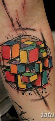 фото тату Кубик Рубика от 24.02.2018 №141 – tattoo Rubik's Cube – tatufoto.com