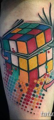 фото тату Кубик Рубика от 24.02.2018 №145 – tattoo Rubik's Cube – tatufoto.com