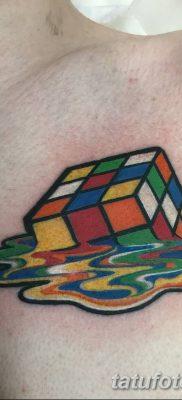 фото тату Кубик Рубика от 24.02.2018 №146 – tattoo Rubik's Cube – tatufoto.com