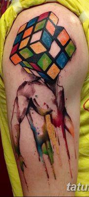 фото тату Кубик Рубика от 24.02.2018 №147 – tattoo Rubik's Cube – tatufoto.com
