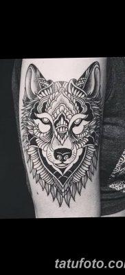 фото тату белый волк от 07.02.2018 №005 – white wolf tattoo – tatufoto.com