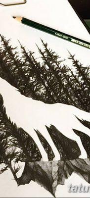 фото тату белый волк от 07.02.2018 №007 – white wolf tattoo – tatufoto.com