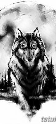 фото тату белый волк от 07.02.2018 №016 – white wolf tattoo – tatufoto.com