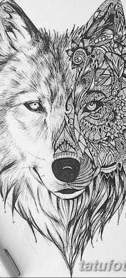 фото тату белый волк от 07.02.2018 №020 – white wolf tattoo – tatufoto.com