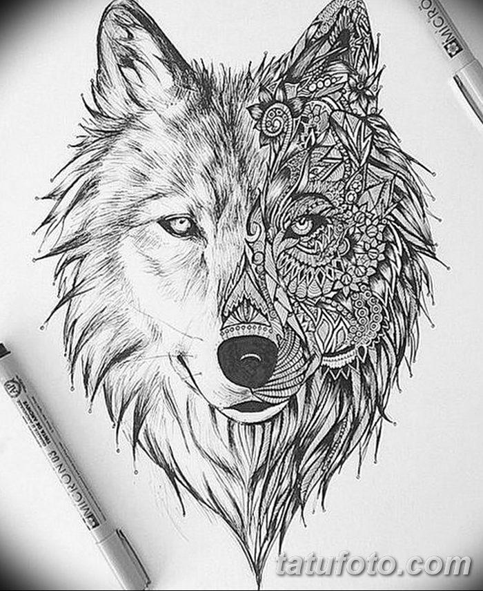 фото тату белый волк от 07.02.2018 №020 - white wolf tattoo - tatufoto.com