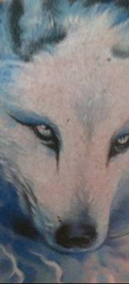 фото тату белый волк от 07.02.2018 №022 – white wolf tattoo – tatufoto.com