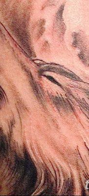фото тату белый волк от 07.02.2018 №025 – white wolf tattoo – tatufoto.com