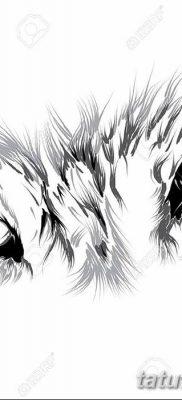 фото тату белый волк от 07.02.2018 №026 – white wolf tattoo – tatufoto.com