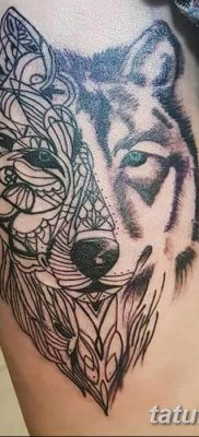 фото тату белый волк от 07.02.2018 №028 – white wolf tattoo – tatufoto.com
