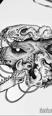 фото тату белый волк от 07.02.2018 №029 – white wolf tattoo – tatufoto.com