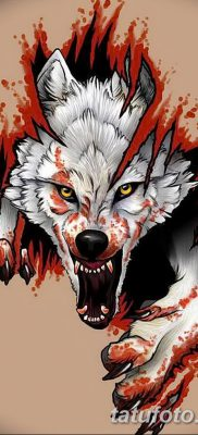 фото тату белый волк от 07.02.2018 №033 – white wolf tattoo – tatufoto.com
