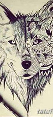 фото тату белый волк от 07.02.2018 №035 – white wolf tattoo – tatufoto.com