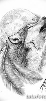 фото тату белый волк от 07.02.2018 №037 – white wolf tattoo – tatufoto.com
