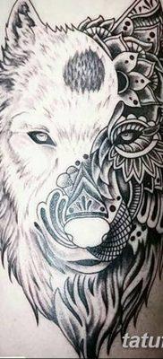 фото тату белый волк от 07.02.2018 №038 – white wolf tattoo – tatufoto.com