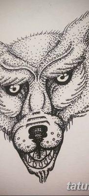 фото тату белый волк от 07.02.2018 №039 – white wolf tattoo – tatufoto.com