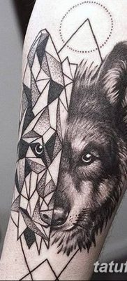 фото тату белый волк от 07.02.2018 №041 – white wolf tattoo – tatufoto.com