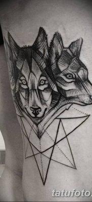 фото тату белый волк от 07.02.2018 №044 – white wolf tattoo – tatufoto.com