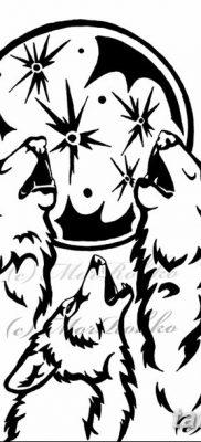 фото тату белый волк от 07.02.2018 №045 – white wolf tattoo – tatufoto.com