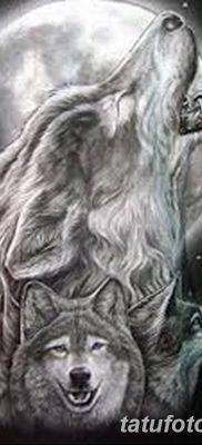 фото тату белый волк от 07.02.2018 №047 – white wolf tattoo – tatufoto.com