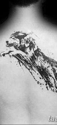 фото тату белый волк от 07.02.2018 №050 – white wolf tattoo – tatufoto.com