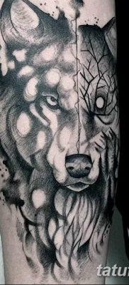 фото тату белый волк от 07.02.2018 №051 – white wolf tattoo – tatufoto.com