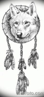 фото тату белый волк от 07.02.2018 №054 – white wolf tattoo – tatufoto.com