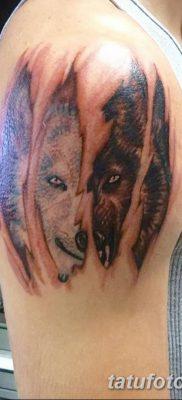 фото тату белый волк от 07.02.2018 №059 – white wolf tattoo – tatufoto.com