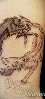 фото тату белый волк от 07.02.2018 №067 – white wolf tattoo – tatufoto.com