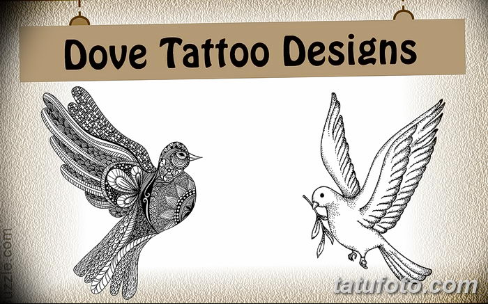 фото тату голубки от 02.02.2018 №006 - tattoo of the dove - tatufoto.com
