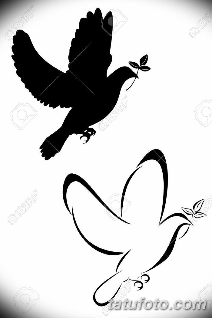 фото тату голубки от 02.02.2018 №007 - tattoo of the dove - tatufoto.com