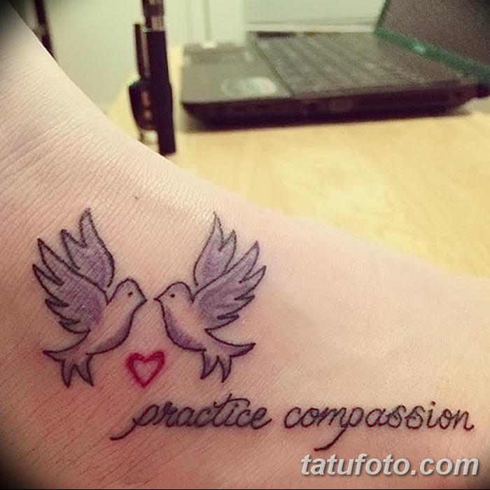 фото тату голубки от 02.02.2018 №015 - tattoo of the dove - tatufoto.com