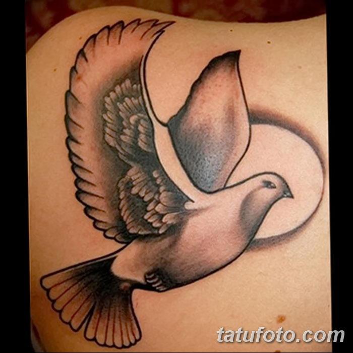 фото тату голубки от 02.02.2018 №017 - tattoo of the dove - tatufoto.com