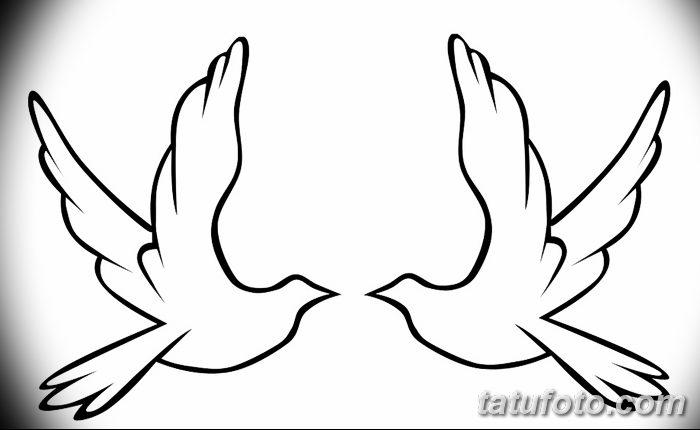 фото тату голубки от 02.02.2018 №019 - tattoo of the dove - tatufoto.com