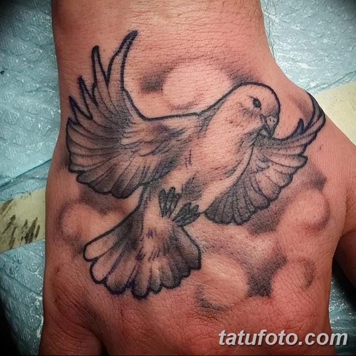 фото тату голубки от 02.02.2018 №022 - tattoo of the dove - tatufoto.com