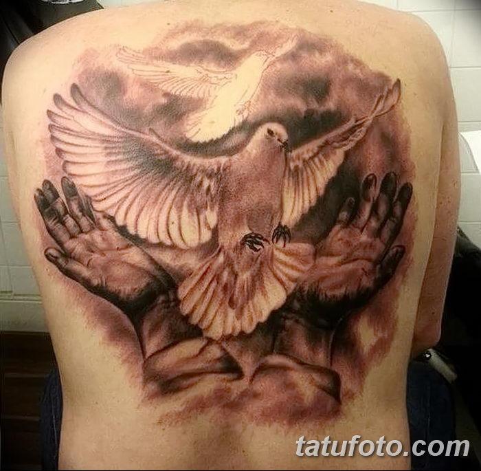 фото тату голубки от 02.02.2018 №030 - tattoo of the dove - tatufoto.com