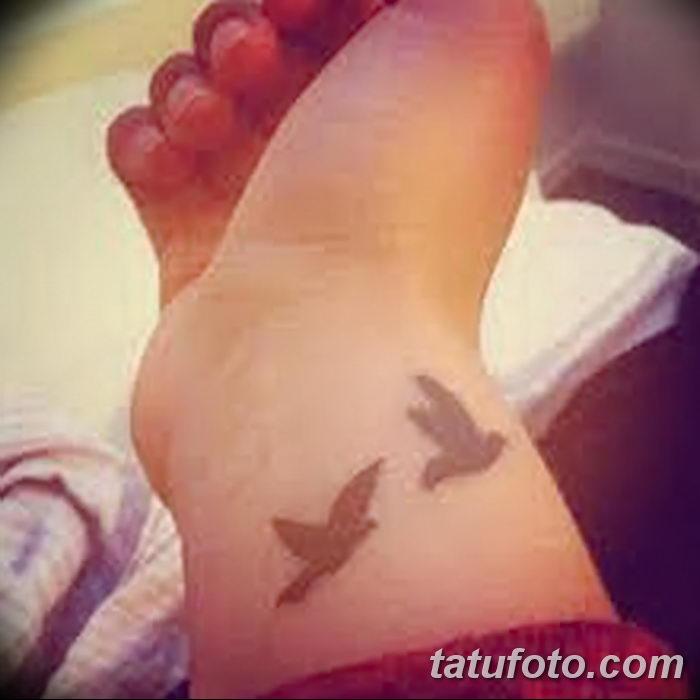 фото тату голубки от 02.02.2018 №032 - tattoo of the dove - tatufoto.com