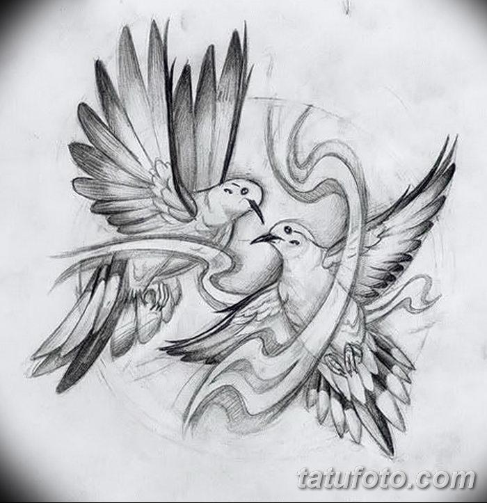 фото тату голубки от 02.02.2018 №038 - tattoo of the dove - tatufoto.com