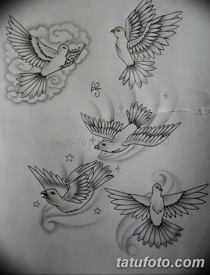 фото тату голубки от 02.02.2018 №043 - tattoo of the dove - tatufoto.com 26234