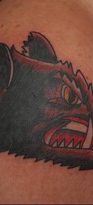 фото тату кабан от 12.02.2018 №003 – tattoo boar – tatufoto.com