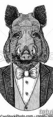 фото тату кабан от 12.02.2018 №016 – tattoo boar – tatufoto.com