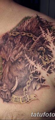 фото тату кабан от 12.02.2018 №018 – tattoo boar – tatufoto.com