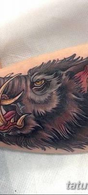 фото тату кабан от 12.02.2018 №022 – tattoo boar – tatufoto.com