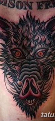 фото тату кабан от 12.02.2018 №029 – tattoo boar – tatufoto.com