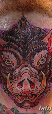 фото тату кабан от 12.02.2018 №037 – tattoo boar – tatufoto.com