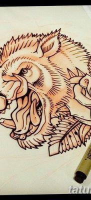 фото тату кабан от 12.02.2018 №041 – tattoo boar – tatufoto.com