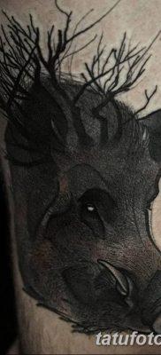 фото тату кабан от 12.02.2018 №043 – tattoo boar – tatufoto.com