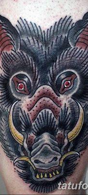 фото тату кабан от 12.02.2018 №050 – tattoo boar – tatufoto.com