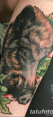 фото тату кабан от 12.02.2018 №052 – tattoo boar – tatufoto.com